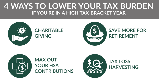 4 ways to reduce tax burden in high income year