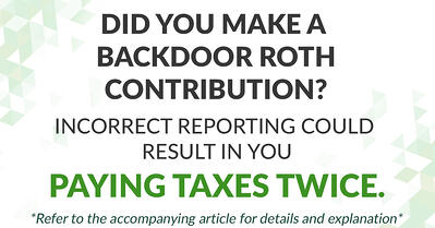 incorrectly reporting a backdoor roth contribution can result in double taxation