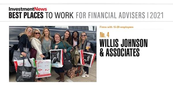 Best place to work for financial advisors in houston - Willis Johnson & Associates