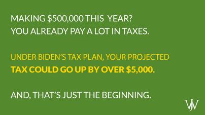 Biden Tax Plan - Tax Jump From Current Rates
