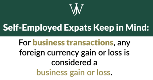 self employed expat business transaction tax rules